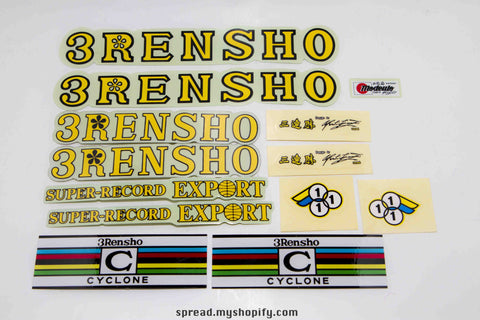 the original sticker set of 3RENSHO N.O.S, Free Economy shipping (14-02-059)