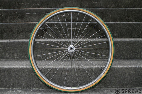 24inch front wheel of Shimano600EX low flange and ARAYA aero4 ADX-4, 32h