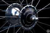 24inch front track wheel of Shimano DURA-ACE track HB7600 and ARAYA ADX-4 aero4 28h