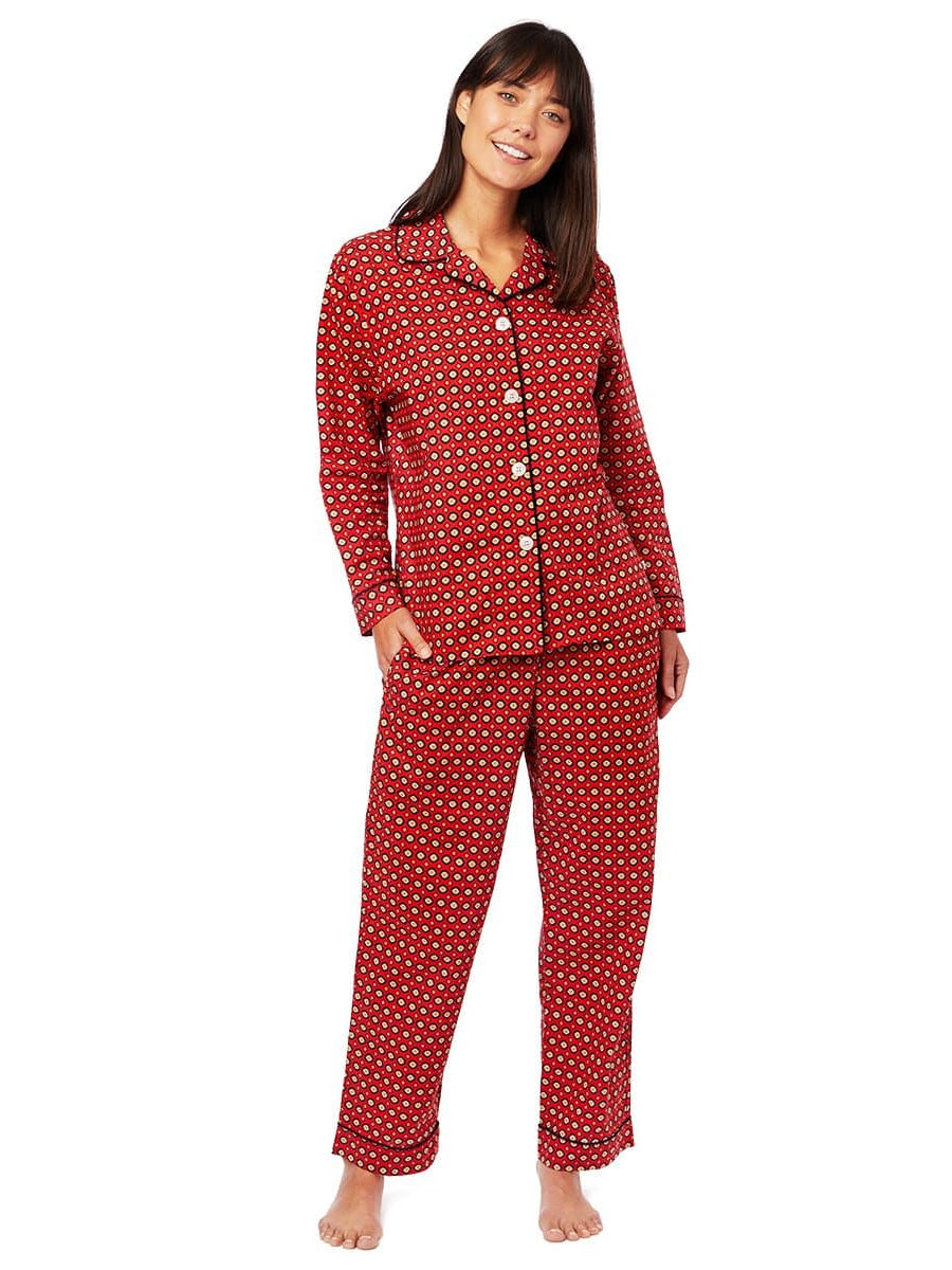 Model wearing Hadley Luxe Pima Cotton Pajama