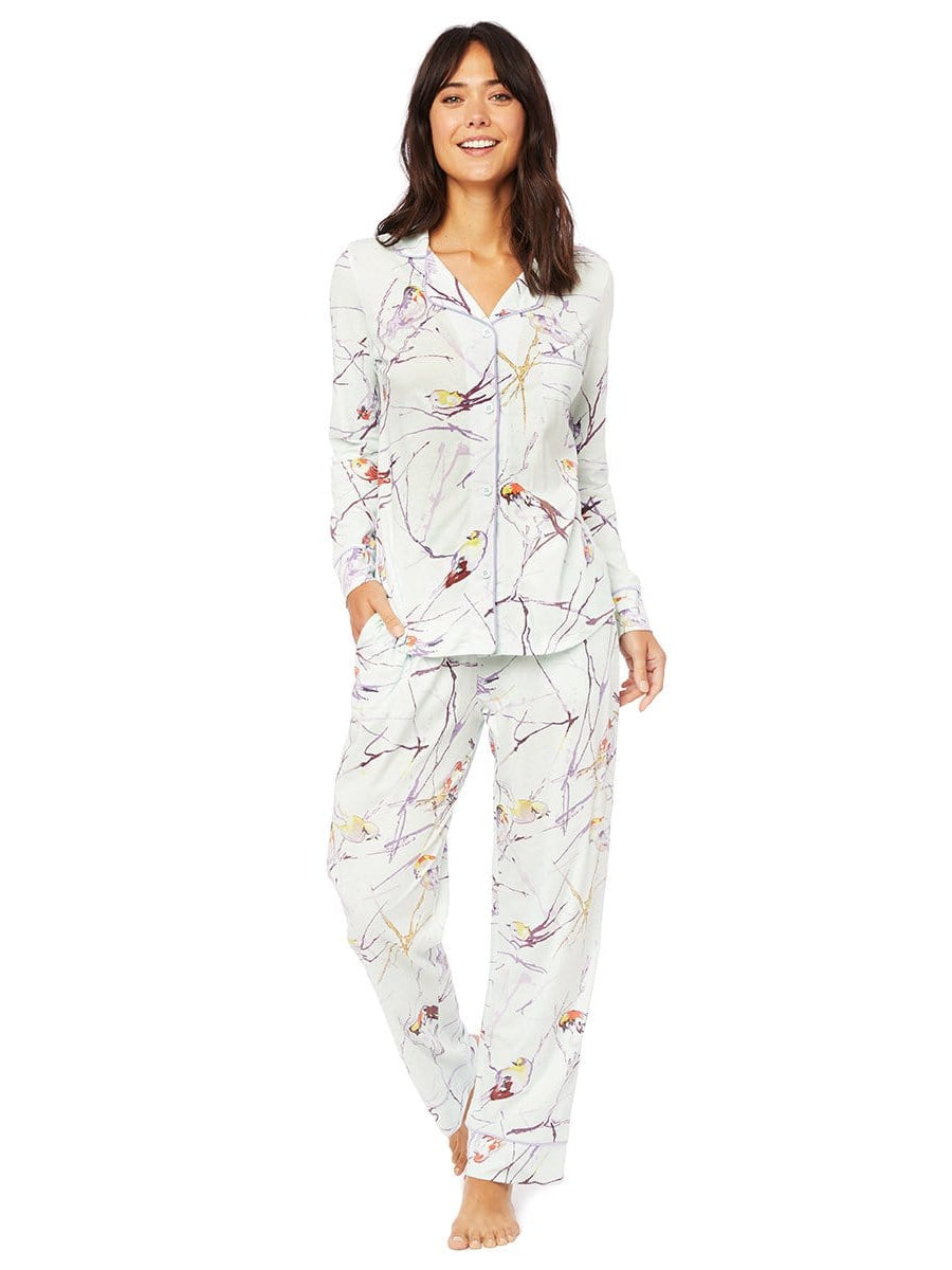 Model wearing Meadowlark Pima Knit Pajama