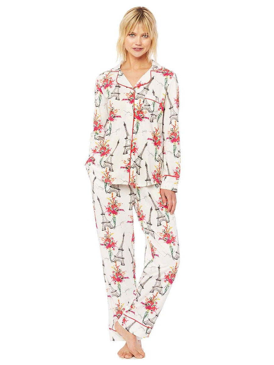 Model wearing La Fleur Eiffel Pima Knit Pajama