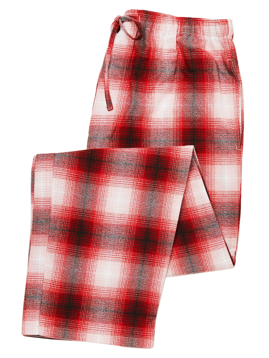 Model wearing Tahoe Men's Flannel Lounge Pant