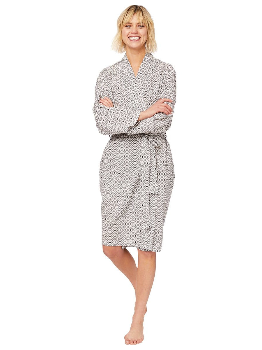 Model wearing Barrington Luxe Pima Robe