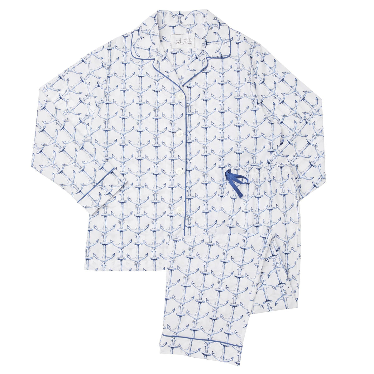 Anchors Away Luxe Pima Pajamatest