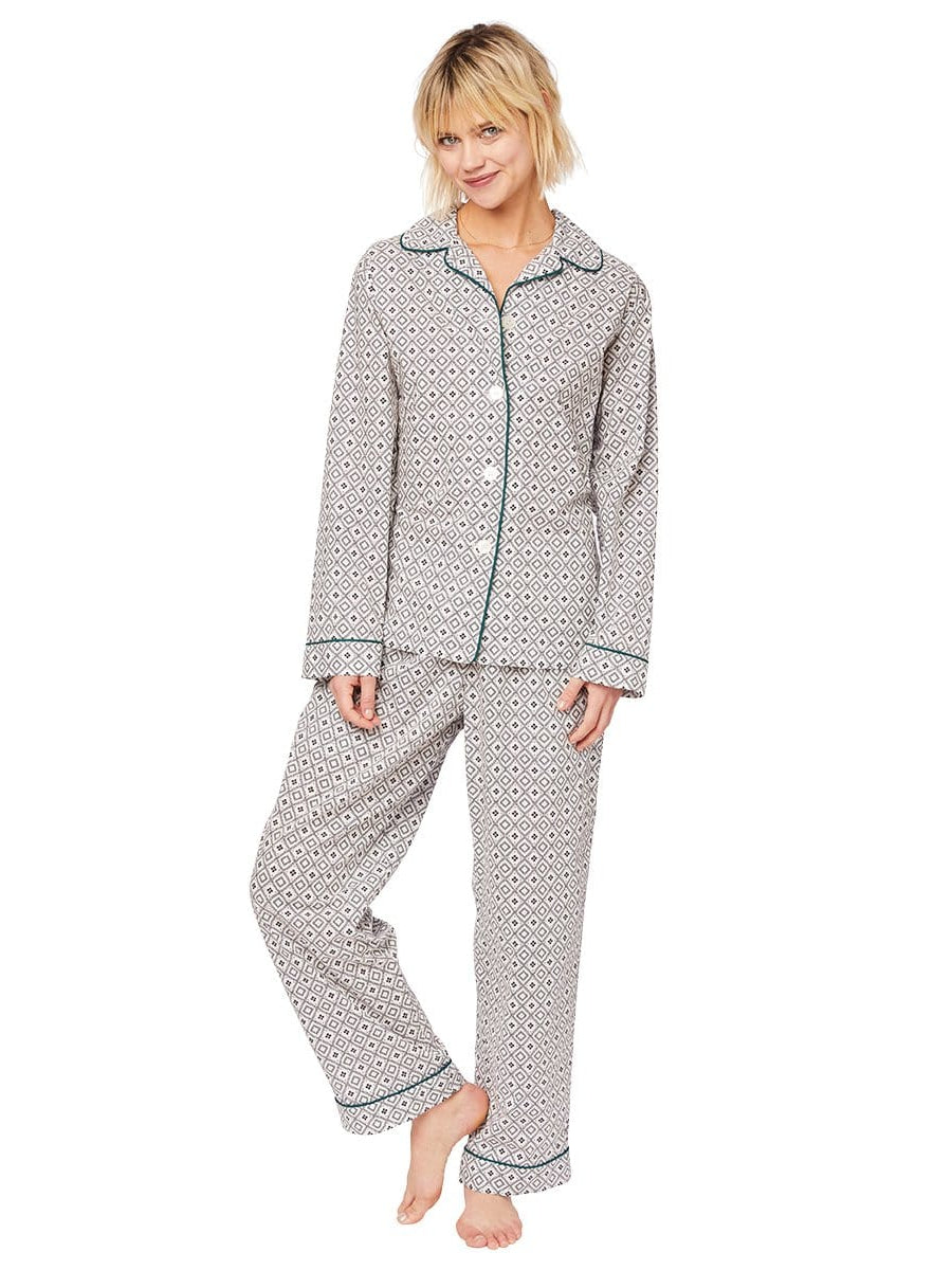 Model wearing Barrington Luxe Pima Pajama