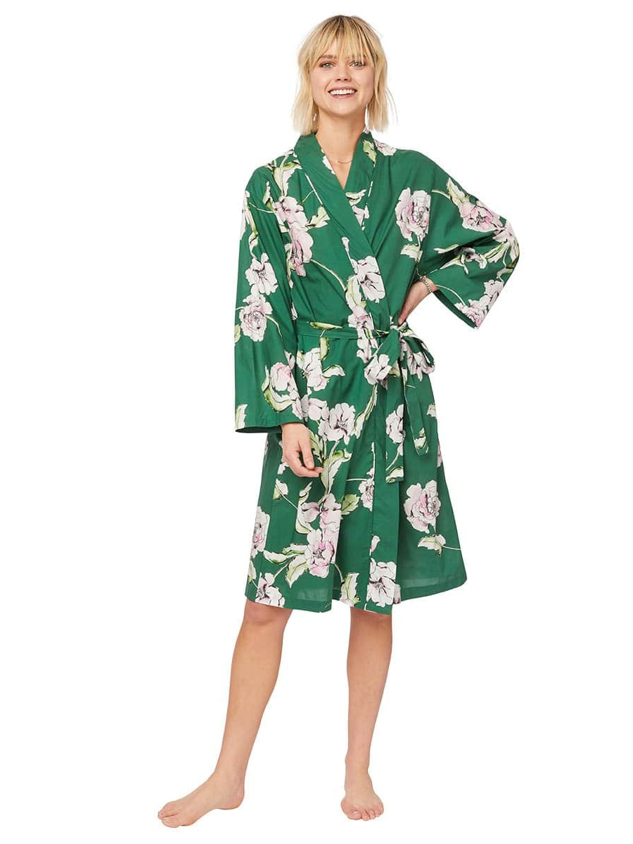 Model wearing Georgia Luxe Pima Robe
