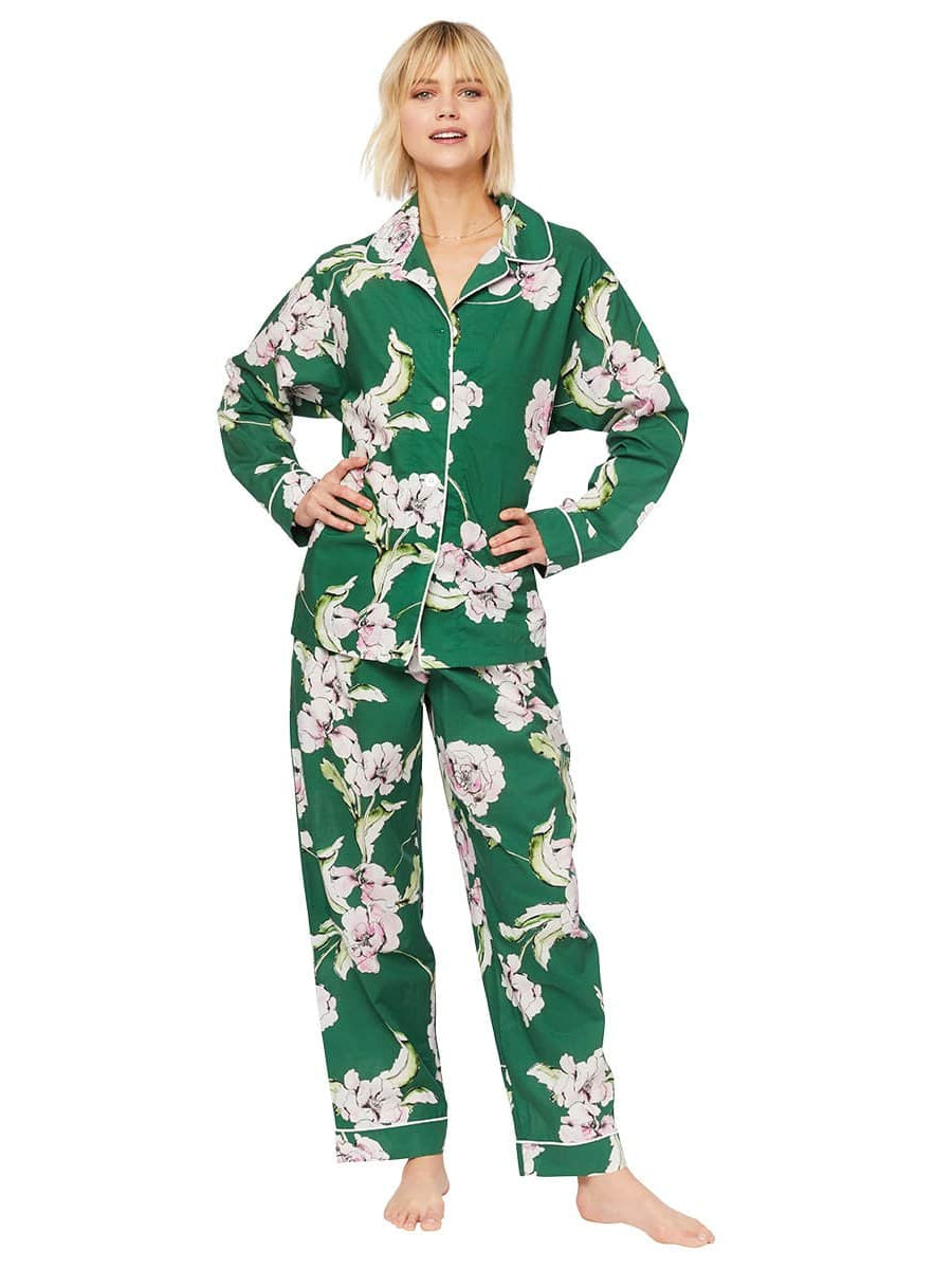 Model wearing Georgia Luxe Pima Pajama