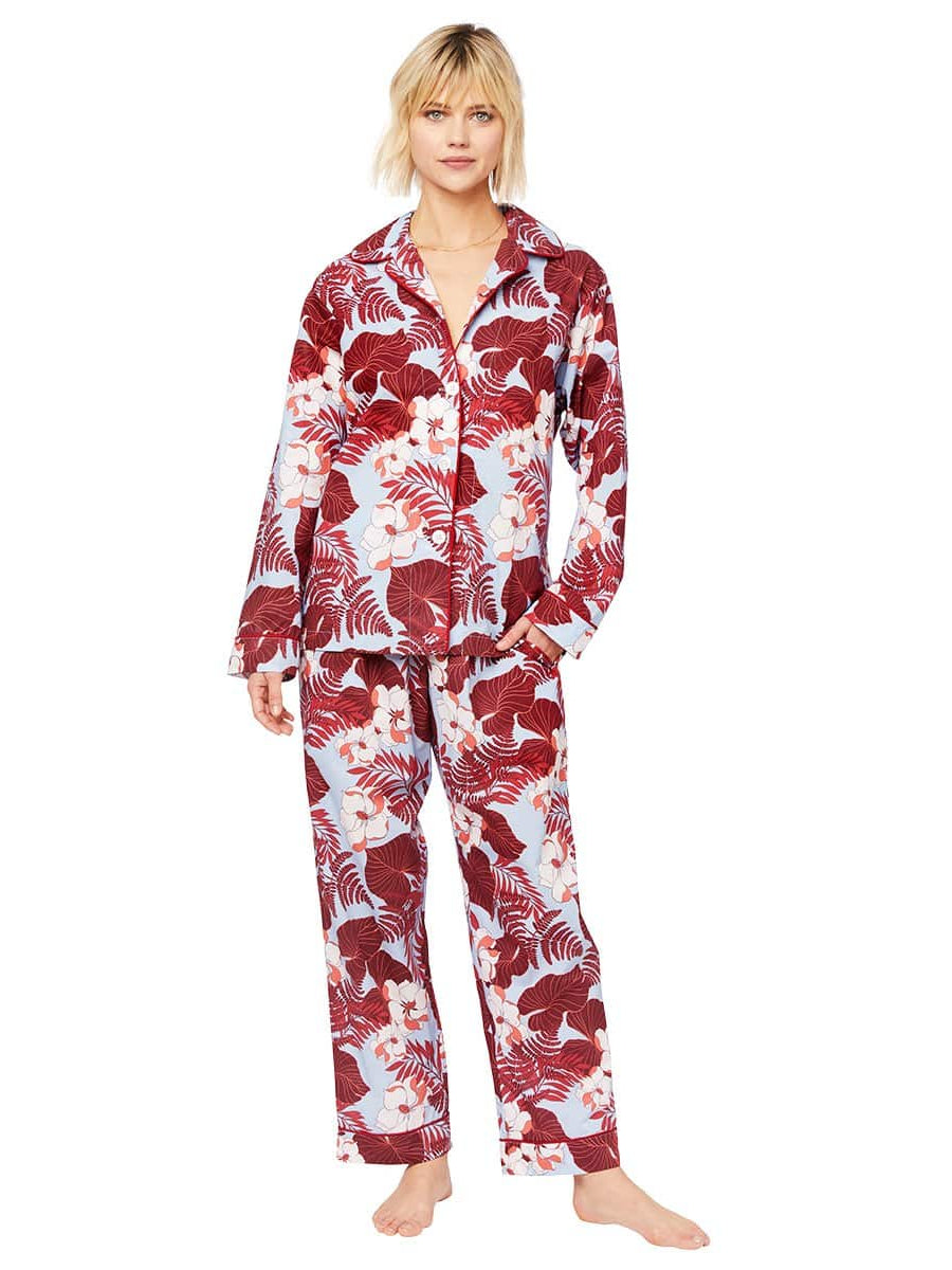 Model wearing Wailea Luxe Pima Pajama
