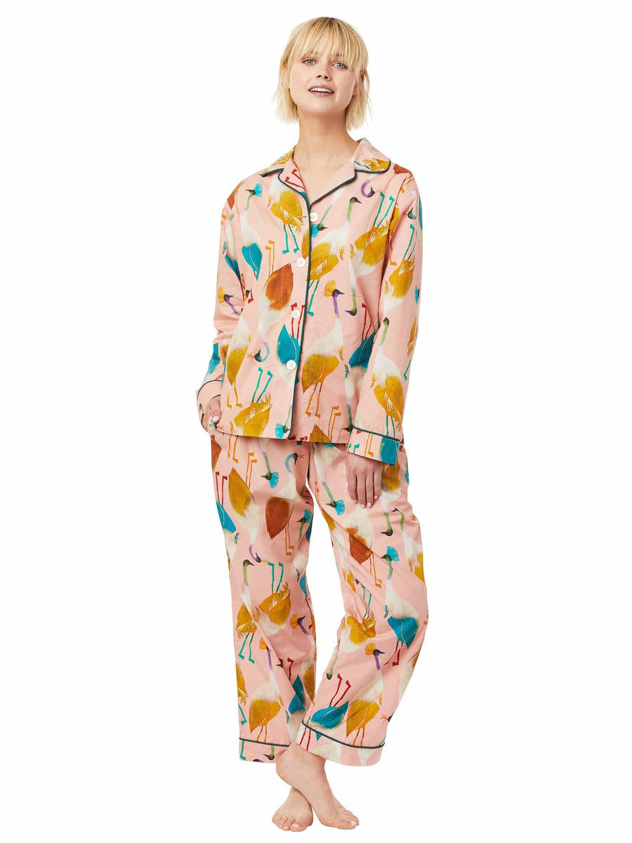 Model wearing Galapagos Luxe Pima Pajama