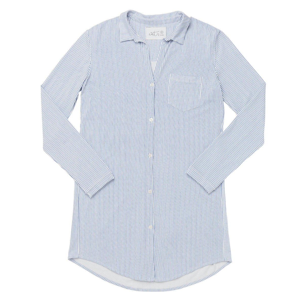 Simple Stripe Pima Knit Night Shirttest