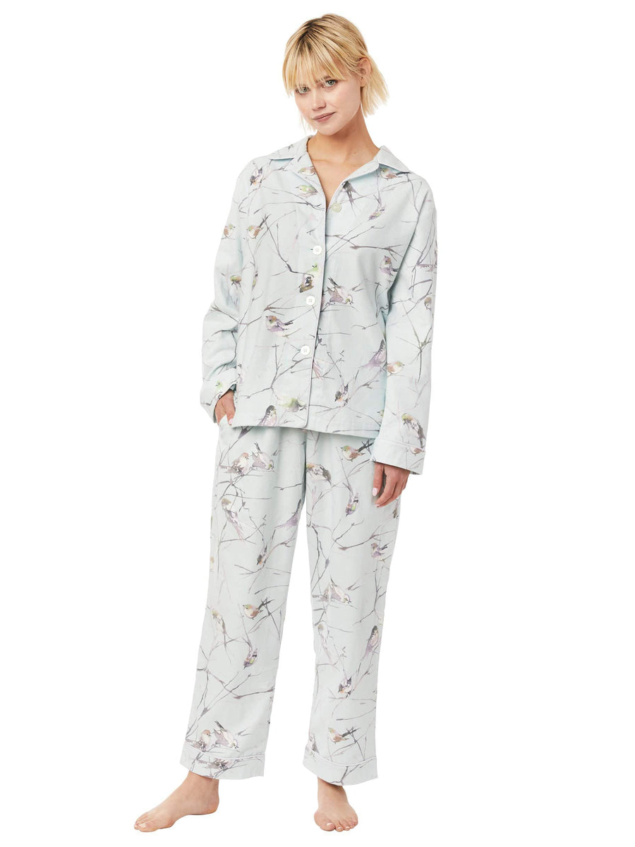 Model wearing Meadowlark Flannel Pajama