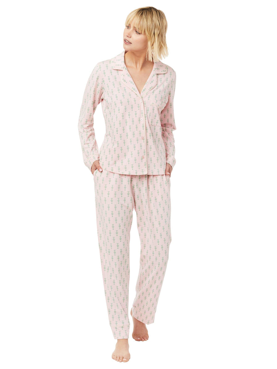 Model wearing Taos Pima Knit Pajama
