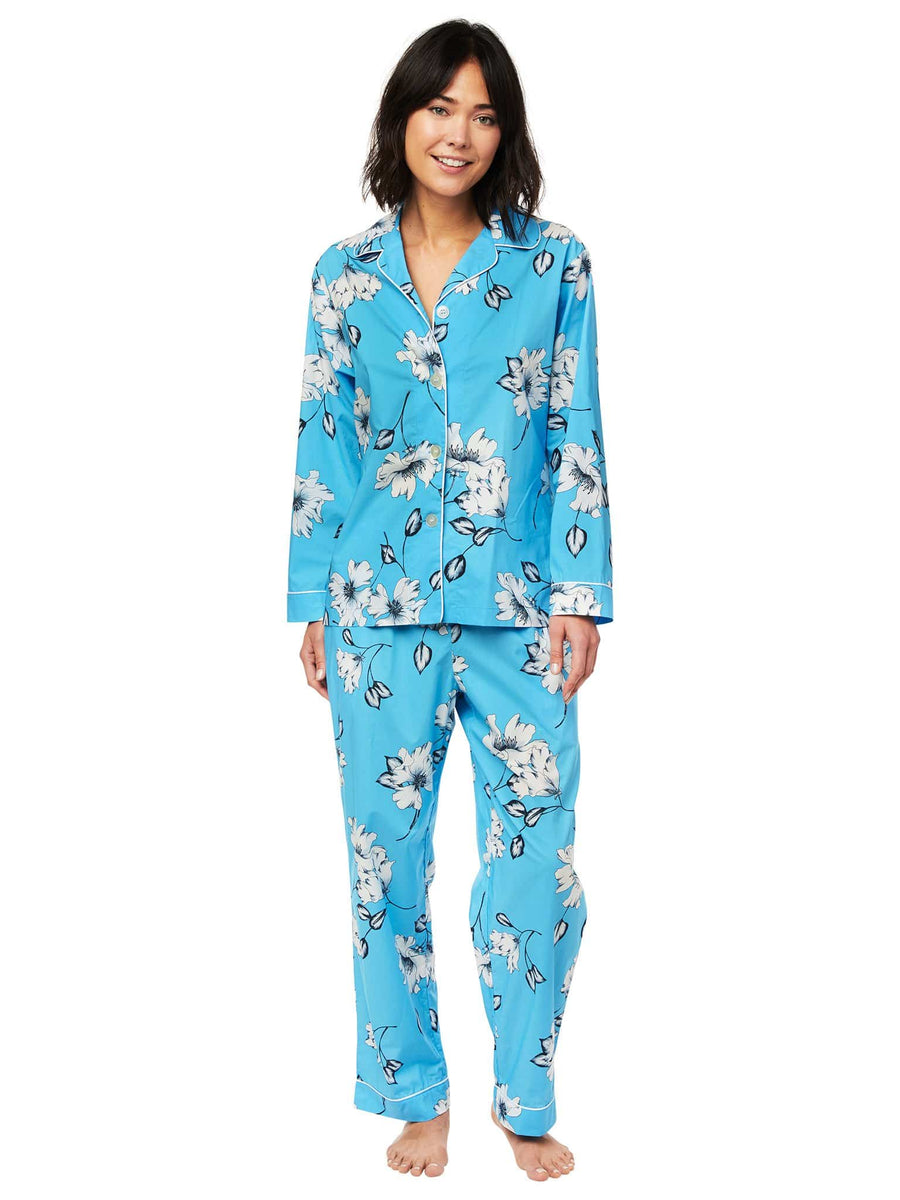 Model wearing Charlotte Luxe Pima Cotton Pajama