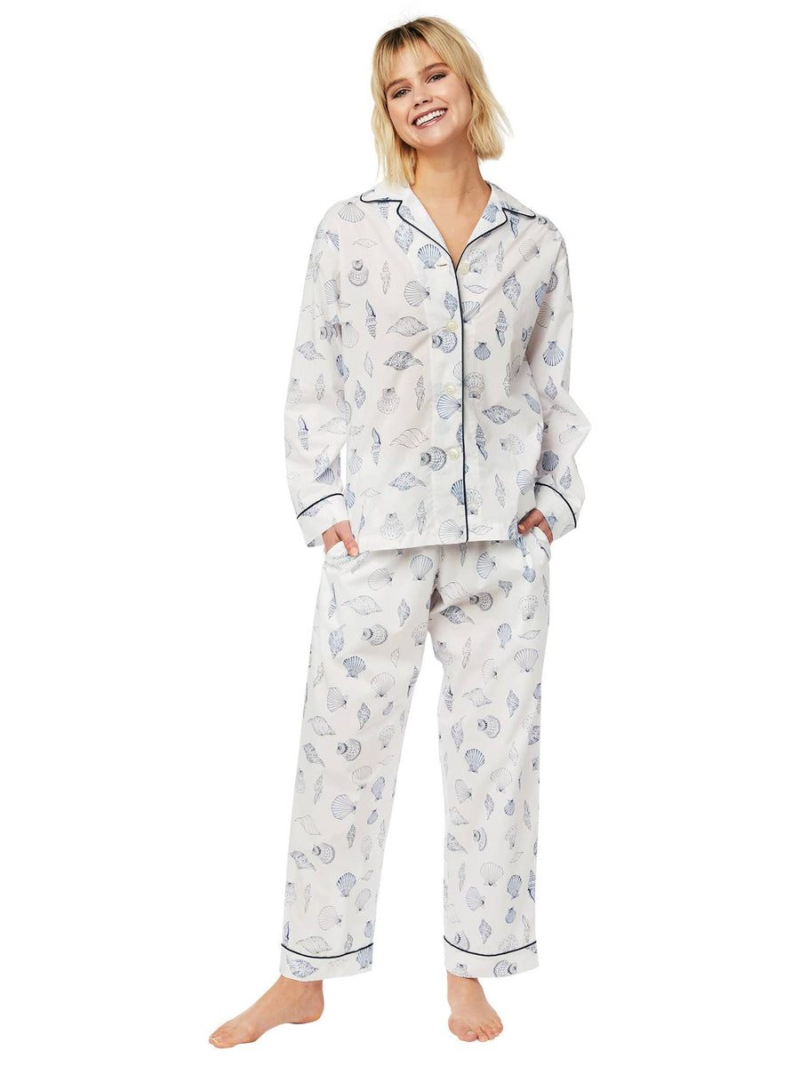 Model wearing Sanibel Island Luxe Pima Cotton Pajama