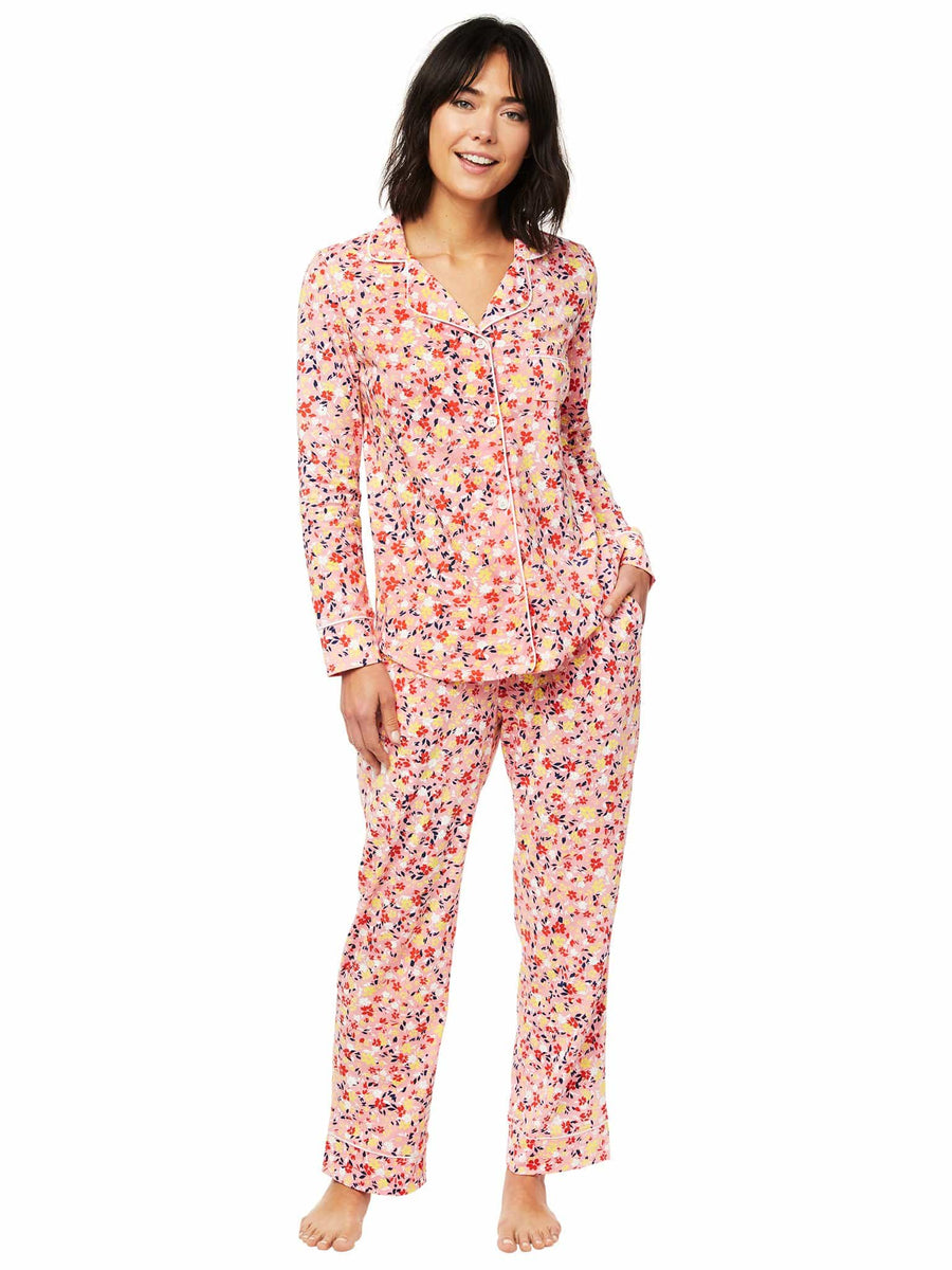 Model wearing Sunday Pima Knit Pajama