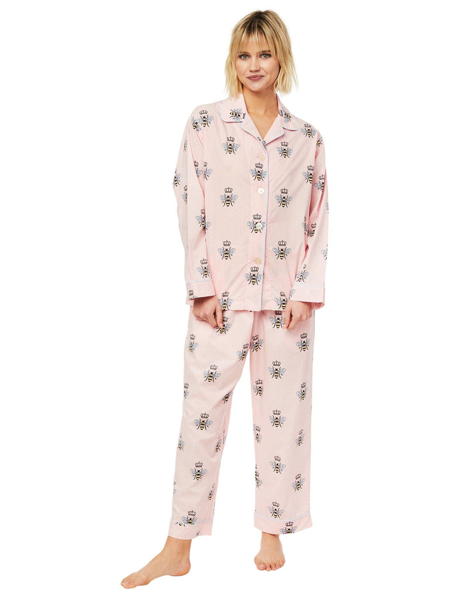 Model wearing Queen Bee Luxe Pima Pajama