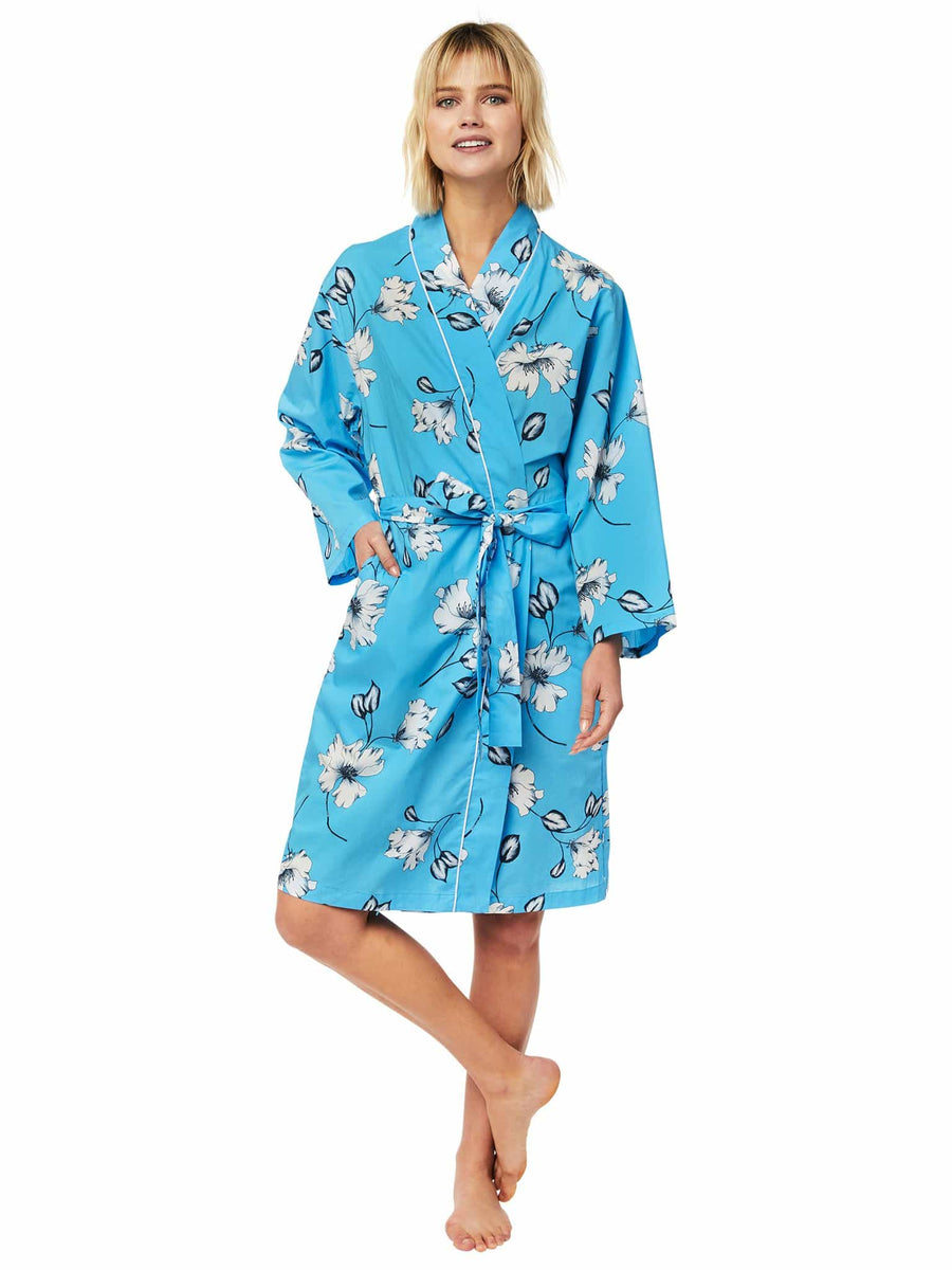 Model wearing Charlotte Luxe Pima Robe