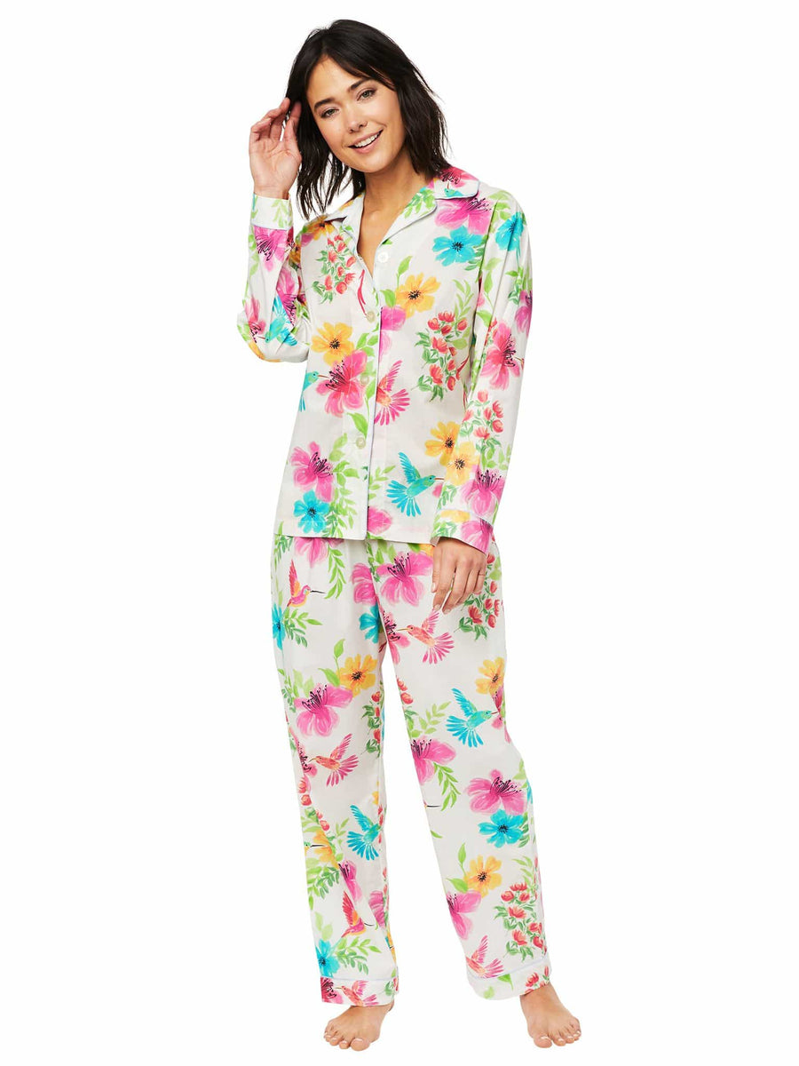Model wearing Tropicana Luxe Pima Pajama