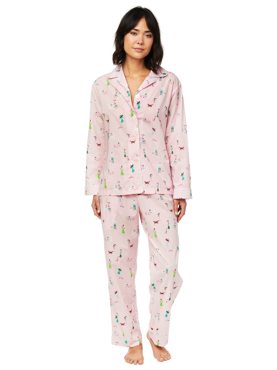 Model wearing Promenade Luxe Pima Pajama