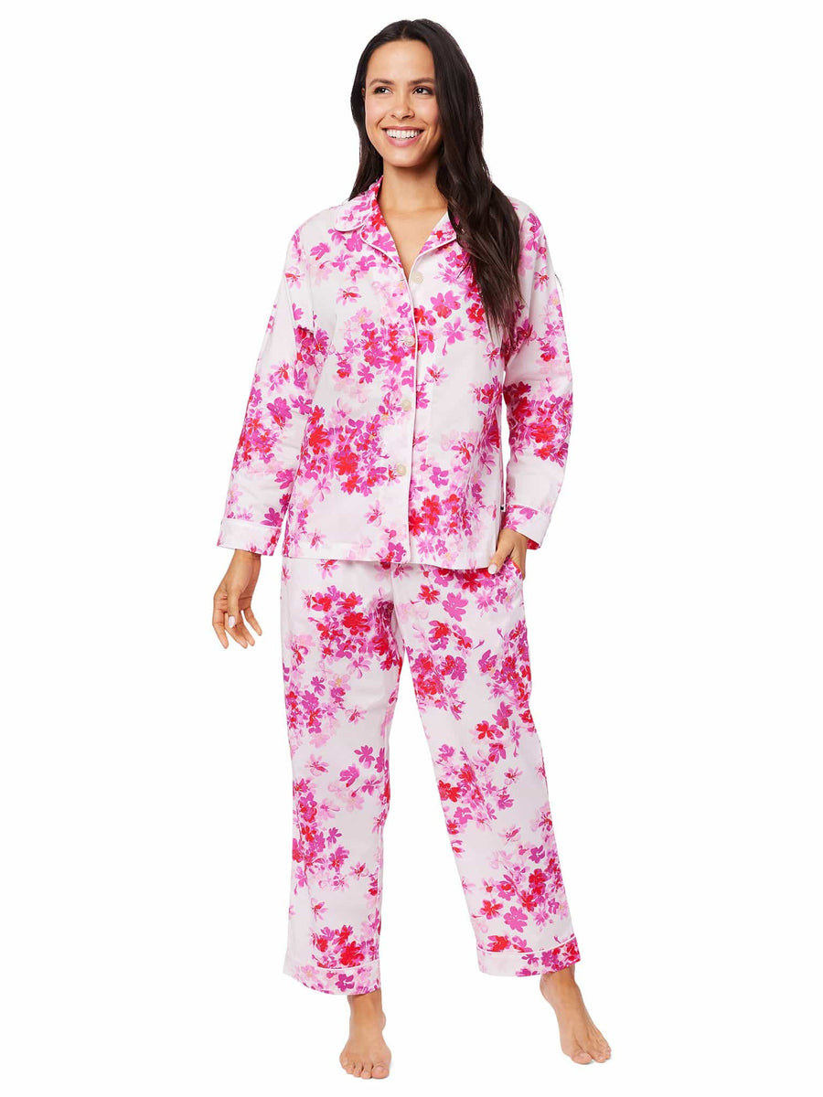 Model wearing Aster Luxe Pima Pajama