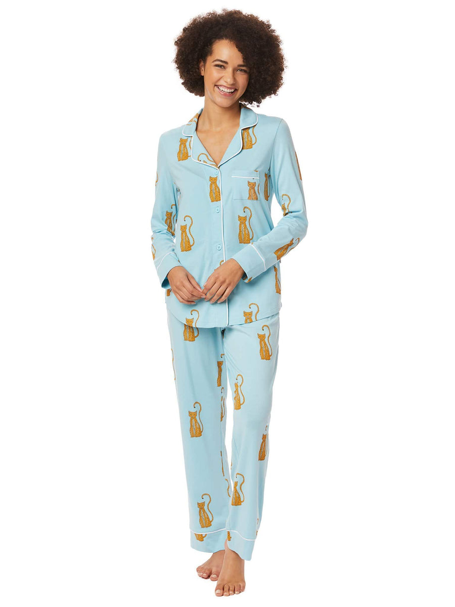 Model wearing Bengala Pima Knit Pajama