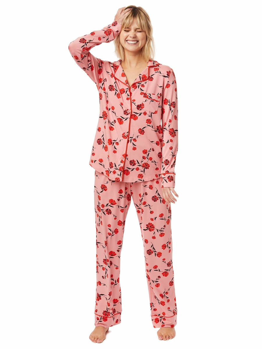 Model wearing Daphne Pima Knit Pajama