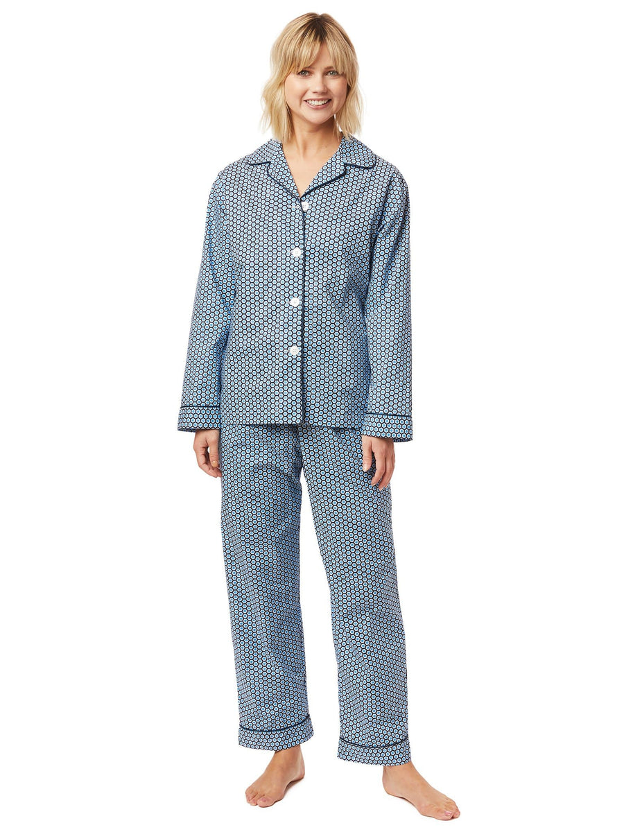 Model wearing Hudson Luxe Pima Pajama