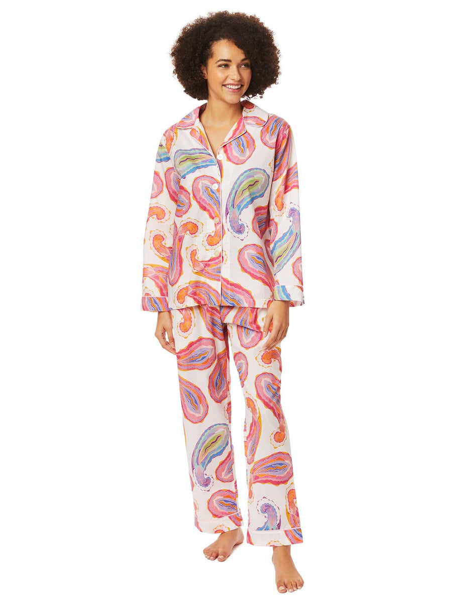 Model wearing Paisley Daze Luxe Pima Pajama