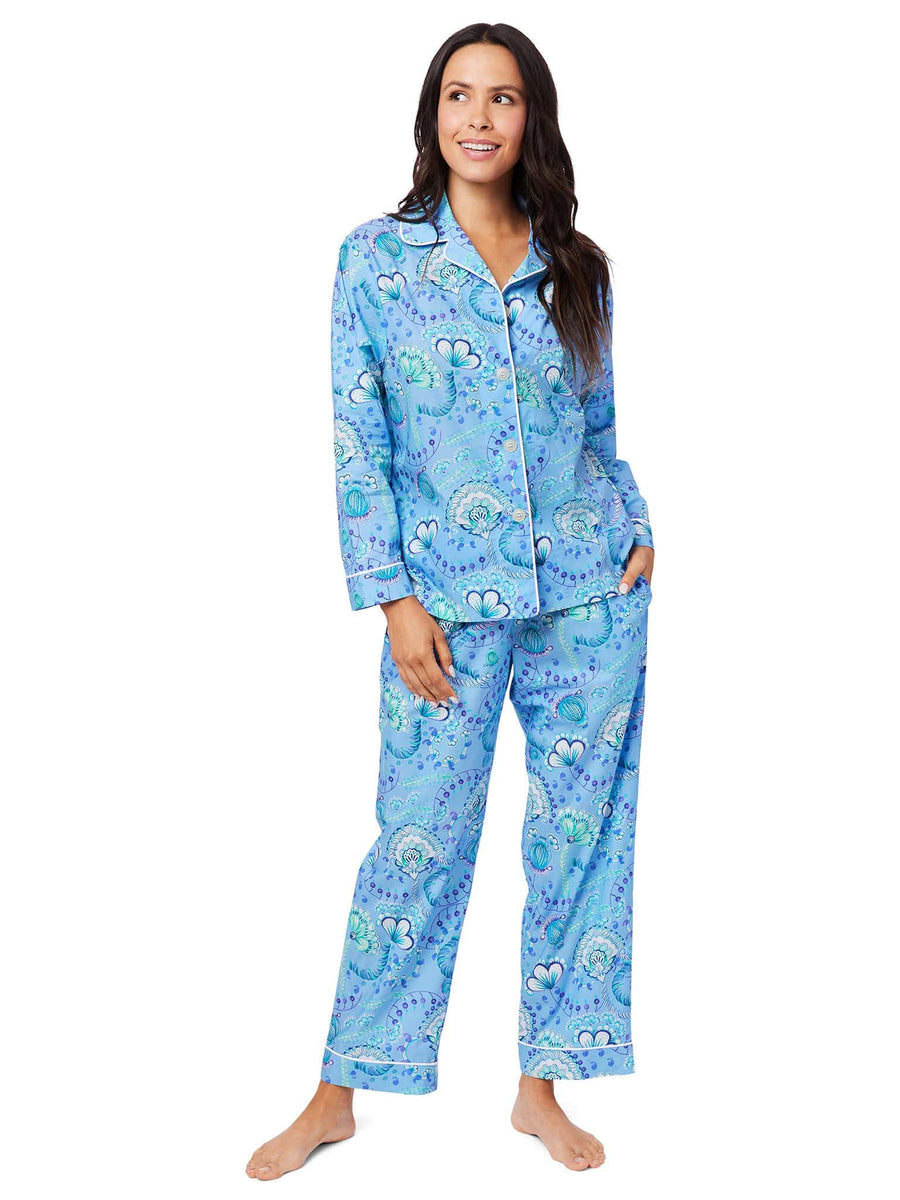 Model wearing Stella Luxe Pima Pajama