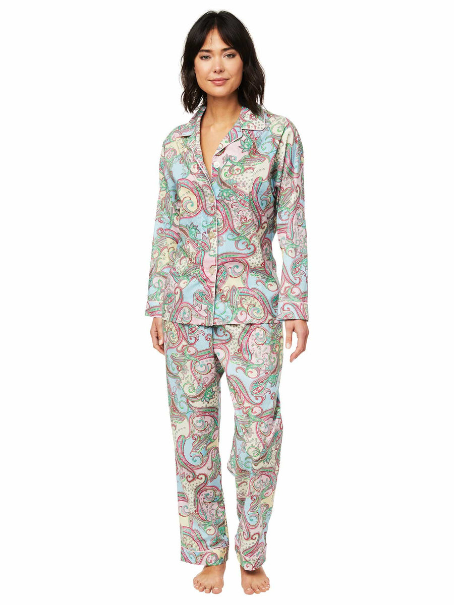 Model wearing Summer of Love Luxe Pima Pajama