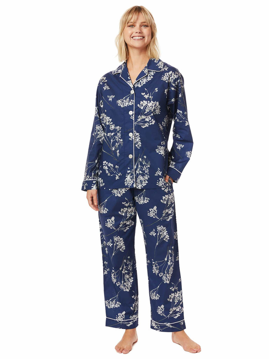Model wearing Willow Luxe Pima Pajama