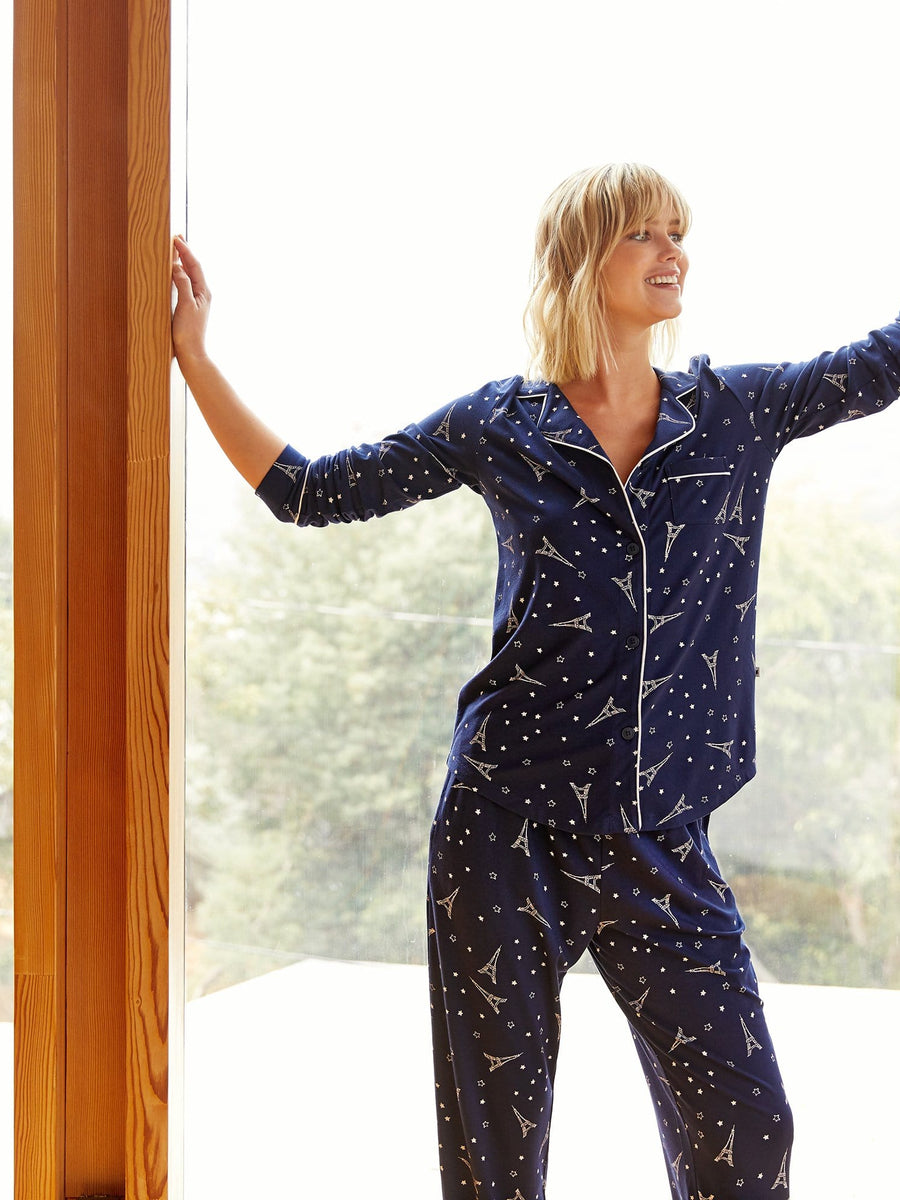 Model wearing Étoile Pima Knit Pajama