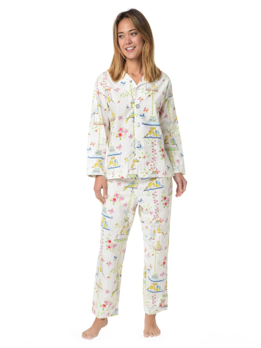 Model wearing Lovebirds Cotton Pajama