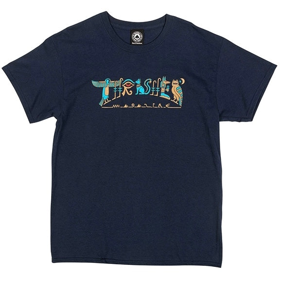 Thrasher T-shirt navy hieroglyphic limited edition