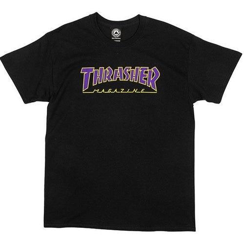 Thrasher T-shirt nera outlined limited edition