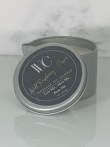 Wild Raspberry and Pepper Massage Oil Candle