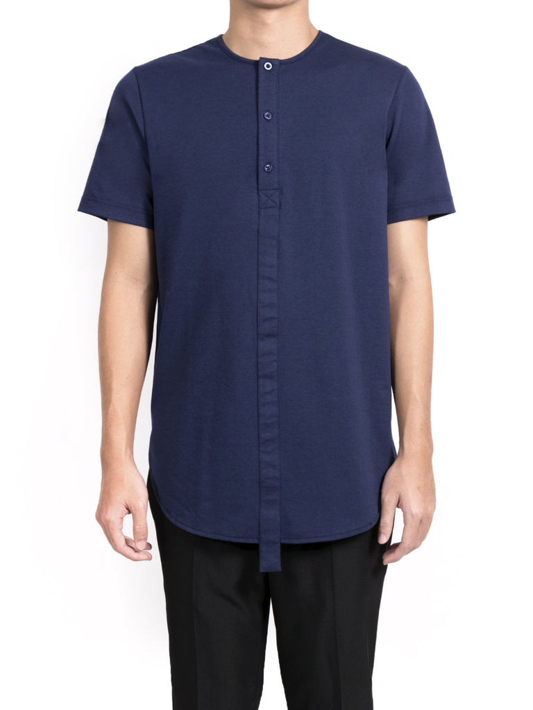Ovate Placket Tee