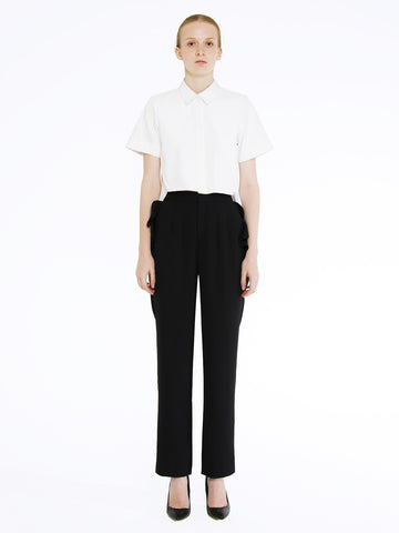 Ruffled Pocket Trousers
