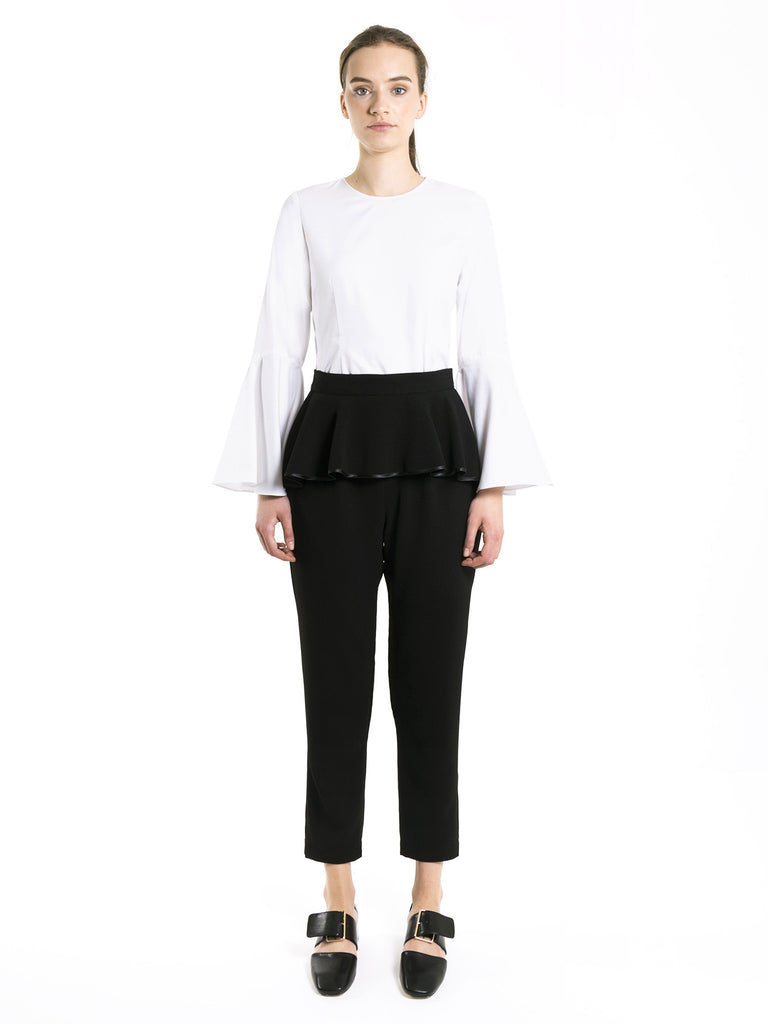 Cropped Peplum Trousers