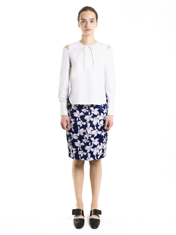 Plumeria Pencil Skirt