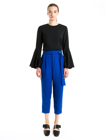 Tapered Sash Tie Trousers