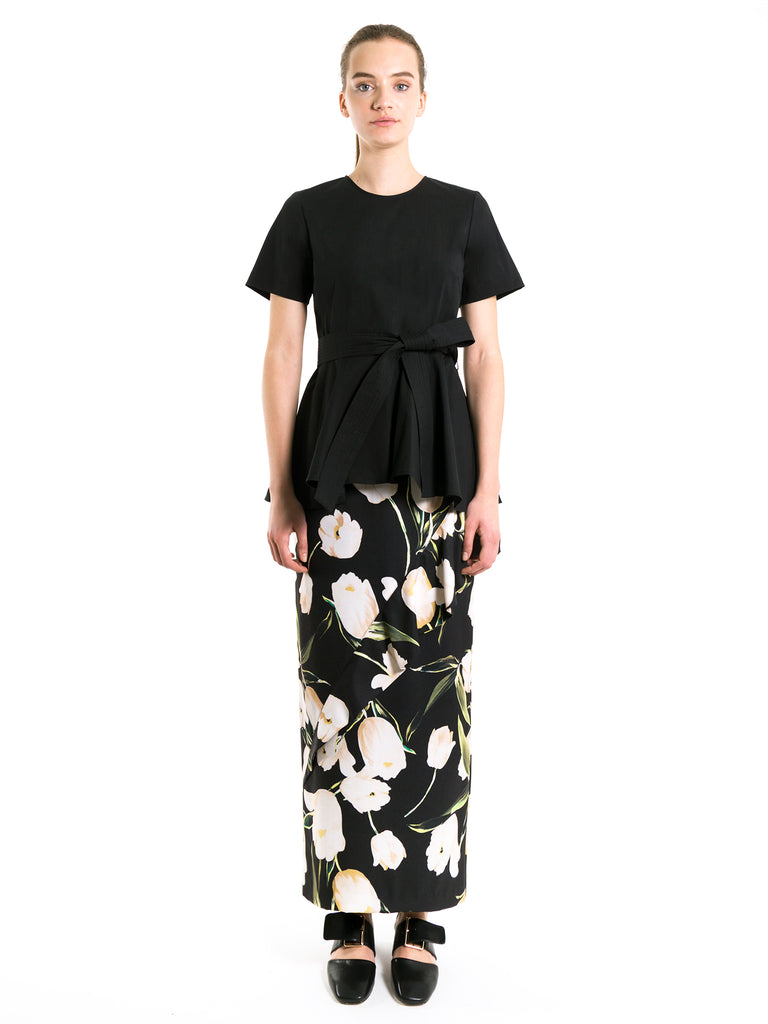 Riana Flounced Maxi Skirt