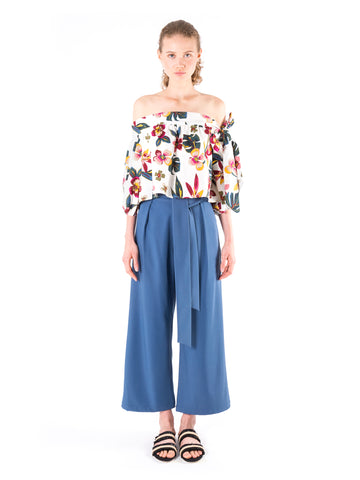 Wide Sash Tailored Trousers