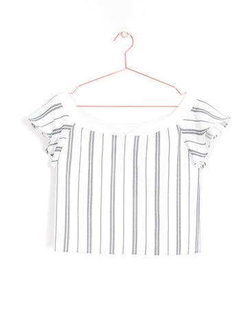 Wide Stripes Off-Shoulder Top