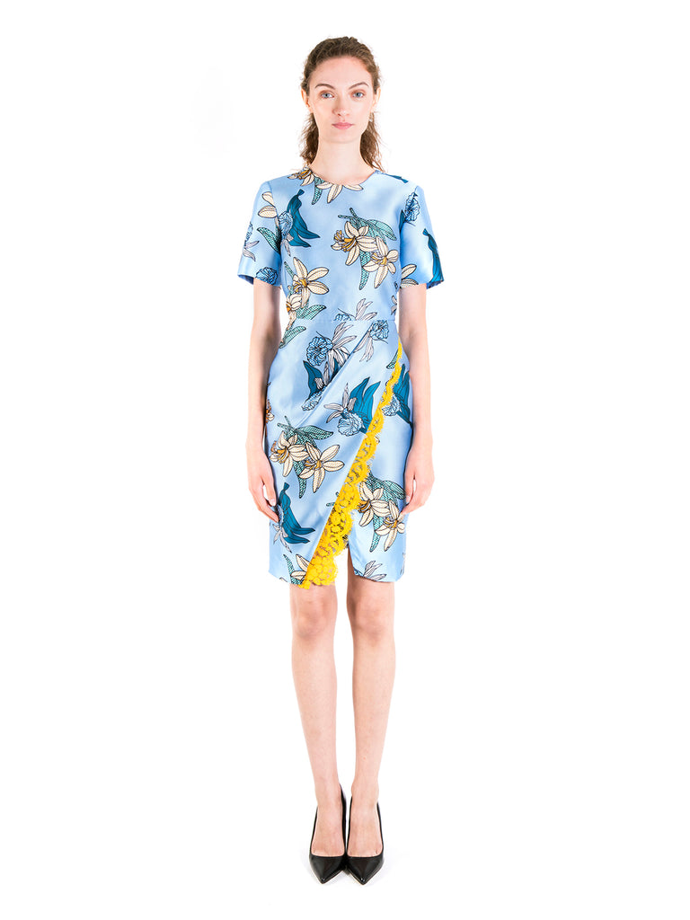 Daffodil Foldover Pencil Dress