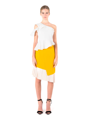 Asymmetrical Pleated Skirt