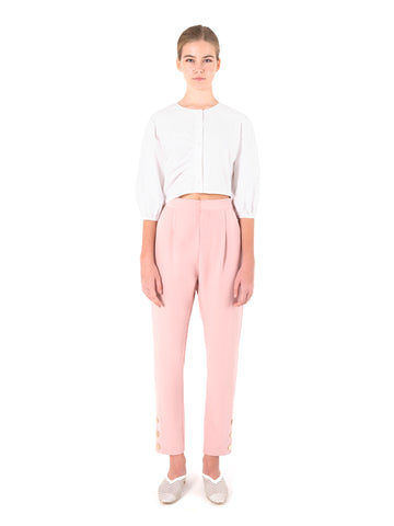 Over Placket Crop Top