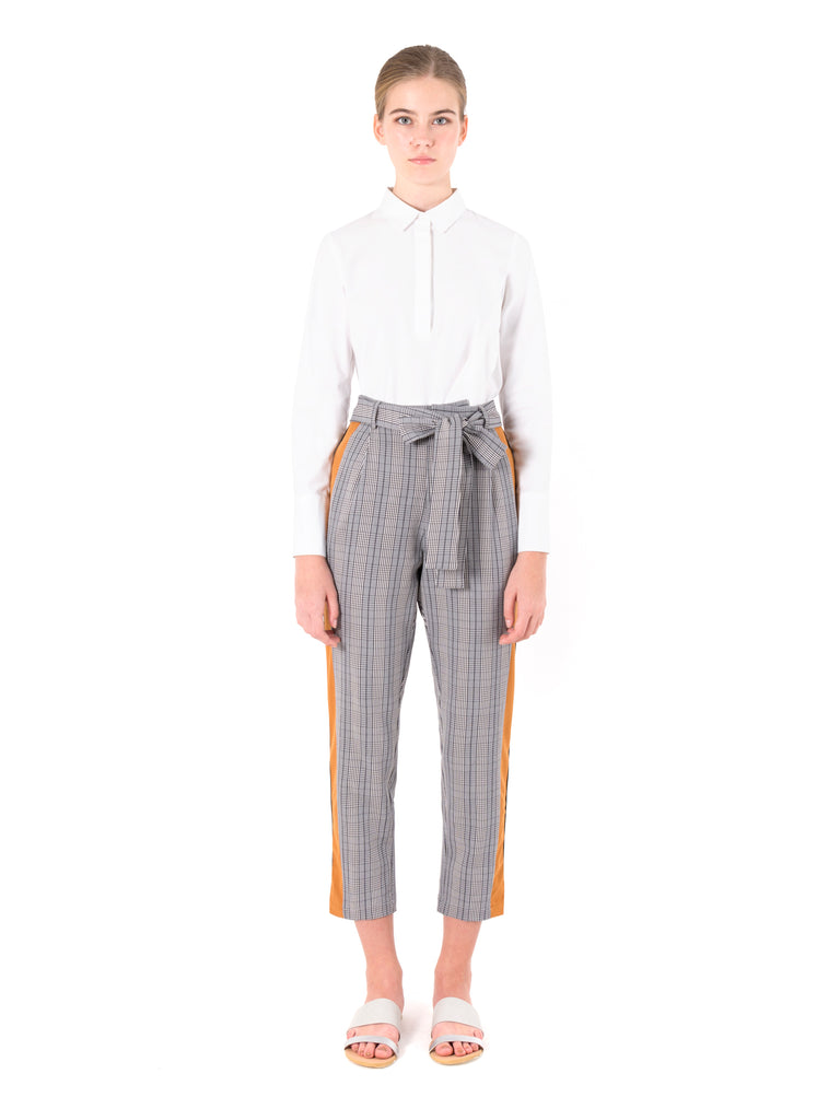 Side Contrast Tapered Pants