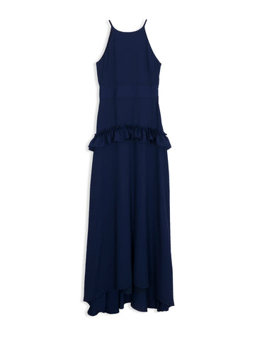 Frilled Textured Maxi Dress (KIV)